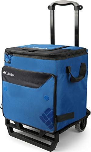 Columbia Crater Peak 50 Can Rolling Thermal Pack Cooler with A.T. Cart, 80 lb. Capacity