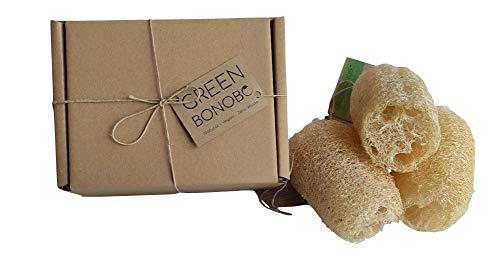 3x esponja natural vegetal de baño y ducha, luffa, loofah, ecológica, vegana, exfoliante, cultivada en España, biodegradable.