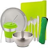 Stainless Steel Children's Tableware & Kids Flatware Set Eco...