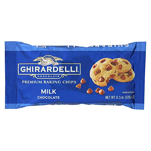 Ghirardelli Chocolate Baking Chips, Milk Chocolate, 11 Ounce (Pack of 12)