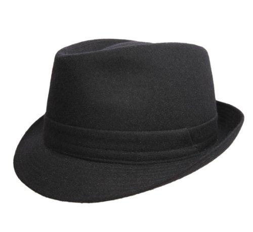 Classic Italy - Chapeau Trilby imperméable Feutre - 3 Coloris - Homme ou Femme Classic Trilby Feutre - Taille 55 cm - Noir