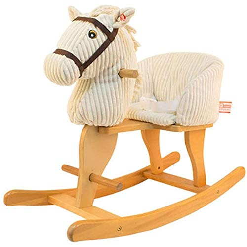 Great Features Of SKR FSGHJJKN Children Rocking Horse Plush Toy Ride-on Removable and Washable Woode...