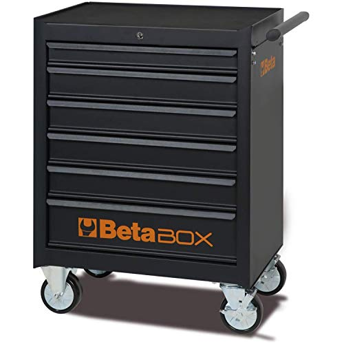 Beta C04BOX - Carrello Portautensili con ruote da 125 mm: 2 fisse e 2 girevoli ( due con freno ), 6...