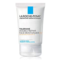Face moisturizer for sensitive skin with Broad Protection UVA / UVB SPF 30 Formulated with Glycerin, La Roche Posay Prebiotic Thermal Water and essential ceramides Paraben Free, Fragrance Free
