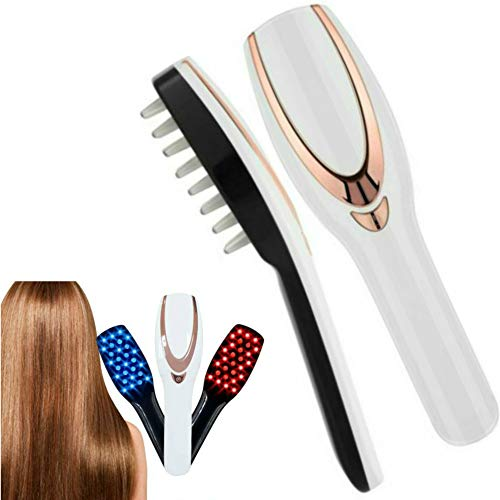 Pevor Electric Massage Comb-USB Rechargeable Phototherapy Scalp Massager Comb Brush with USB Rechargeable for Hair Growth Best Gift