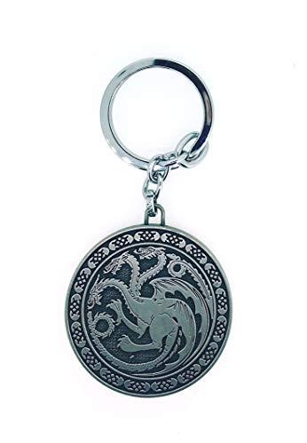 Llavero Juego de Tronos Casa Targaryen Rounded Acero | Para Guardar y Tener recogidas las Llaves | Porta llaves Original y Práctico | Organizador de llaves Compacto