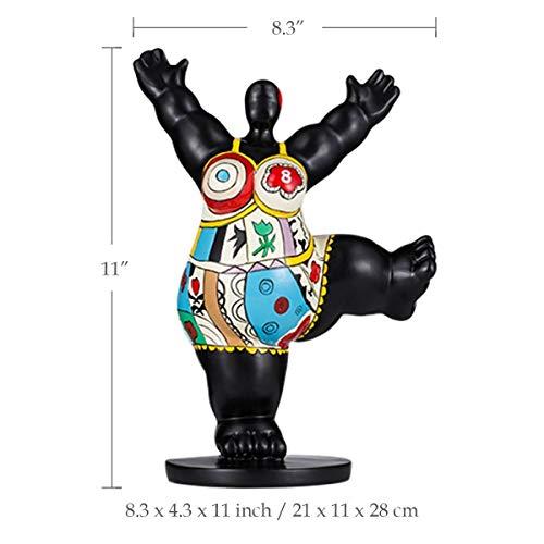 7°MR Gimnasio Mujer gorda Fibra de vidrio Escultura Exagerada Modelado Decorativo Ornamento Obra de arte for oficina en casa