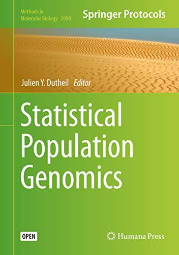 Statistical Population Genomics (Methods in Molecular Biology, 2090, Band 2090)