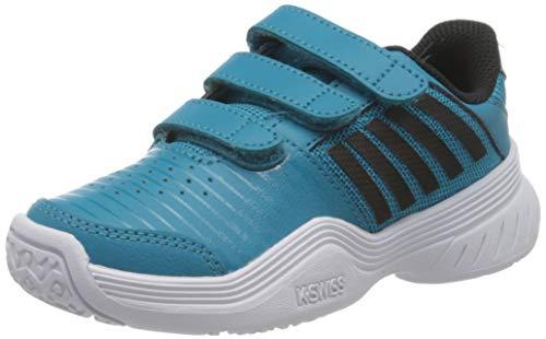 K-Swiss Performance Court Express Strap Omni, Zapatillas de Tenis Unisex niños, Azul (Algiers Blue/White 428), 29 EU