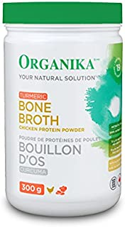 Organika Turmeric Bone Broth Chicken Protein Powder, 300 g