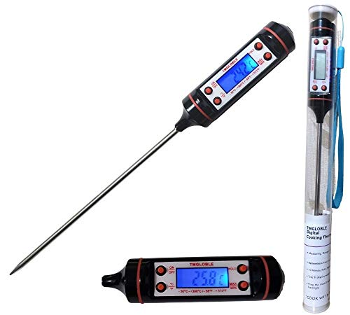 Kitchen Cooking TMGLOBLE Digital Meat Thermometer Backlit LCD Screen 5.9'...