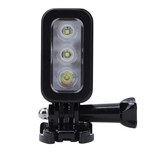 DAUERHAFT Lámpara de Video LED de Buceo Gran Angular Impermeable Luz de Relleno de Buceo Diferentes Modos de luz, para cámaras de acción GoPro