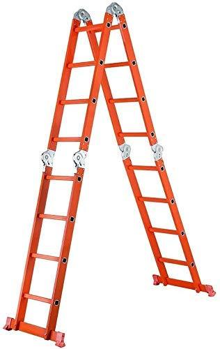 GUOXY Multifunktions-Step Hocker Kliter Thick-Leiter Aus Aluminium Multi-Funktions-Schiebeleiter Projekt Gerade Treppen, Heben, 4 Gelenke, Multi-Form,Anlegeleiter 2,5M / Klapp 1.2M