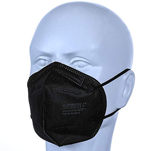AUPROTEC 25 Stück Aupromask AM-100 Mehrweg Mundschutz Maske mit innen liegendem Vlies 5 lagig sehr gut für Mund- und Naseschutz schwarz