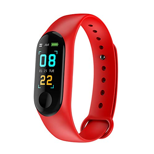 DishyKooker Smart Bracelet Wristband Fitness Tracker Blood Pressure Heart Rate Monitor Red Practical Electronic Product