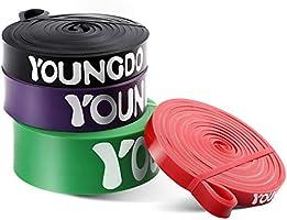 YOUNGDO Bande Élastique Fitness, Elastique de Sport Musculation, Bande de Résistance Exercer Musculation, Faire du...