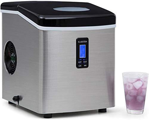 Máquina de cubitos de hielo, 15 kg/día, 150 W, 3 tamaños de dados, temporizador de acero inoxidable, color negro