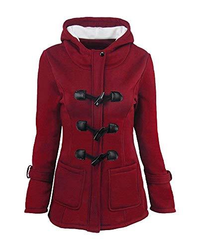 HaiDean Dames Parka Winter Warm Lange Trench Jas Elegante Jas Eenvoudige Glamoureuze Thicken