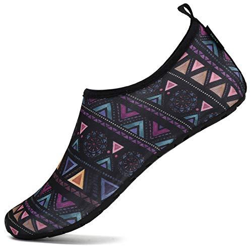 SAGUARO Escarpines Agua Hombre Mujer Zapatos Surf Antideslizante Secado Rápido Calzado Natacion para Buceo Vela Kayak 050 Multicolor Gr.36/37