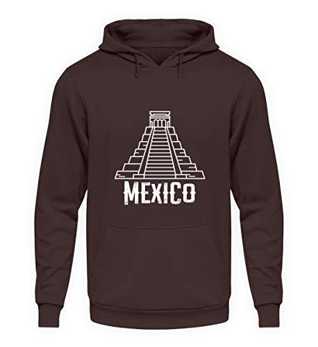 Schuhboutique Doris Finke UG (haftungsbeschränkt) Mexico Maya Pyramid - Unisex Kapuzenpullover Hoodie -S-Schokolade
