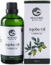 HEALTREE Jojoba Oil 100ml (Virgin Grade Australian 100% Pure & Natural Cold Pressed) | for Skincare, Scalp & Hair Care, Face Moisturiser, Body Massage, mix with Essential Oils | GC Analysis Attached