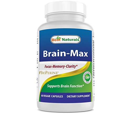Best Naturals Brain -MAX Brain Focus Supplement for Focus, Memory, Energy, Clarity 60 Veggie Capsules
