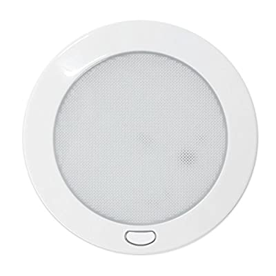 """Dream Lighting 12Volt LED Panel Light with Switch - 5"""" White Shell Ceiling Downlight - Warm White Panel Downlight for Kitchen, Roof, Cabinet and Cabin, with Memory Function"""