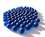FAIRY TAIL & GLITZER FEE Canicas de cristal azul, aprox. 95 canicas, 16 mm, bolas de cristal esmerilado, relleno de jarrones, canicas, cuencos decorativos, juego de canicas