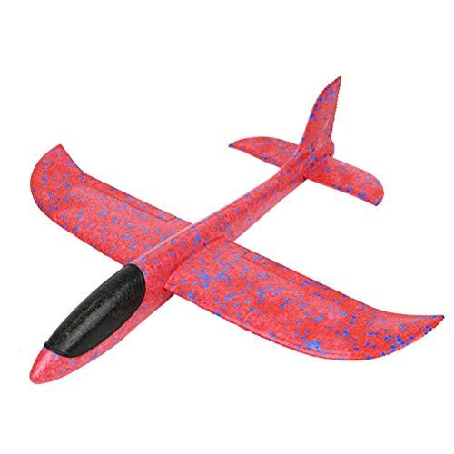 Avión planeador, juguete infantil, 35 cm (Rojo)