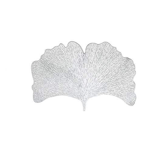 WUCHENG Tischsat Tischmatte Esstisch PVC Blatt Hohlmatte wasserdichte Wärmedämmung Nichtrutsche Tischsets Schüssel Chic Creative Coaster (4 stücke) Tischsets (Color : G319713)