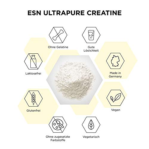 ESN Ultrapure Creatine Monohydrate, Pro Series, 1er Pack (1 x 500g Beutel) - 2