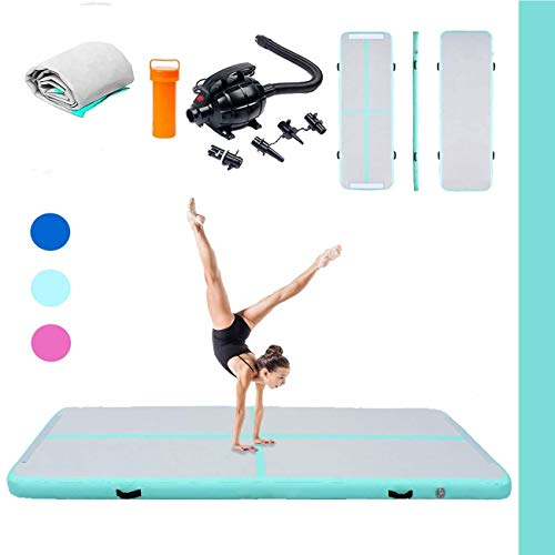 Triclicks Inflatable Air Tumble Track Gymnastics Mat With...
