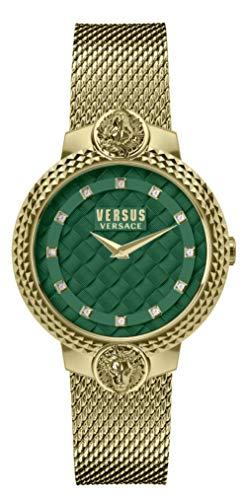 Versus Versace Frau Analog Quarz Uhr mit Rostfreier Stahl Armband VSPLK1620