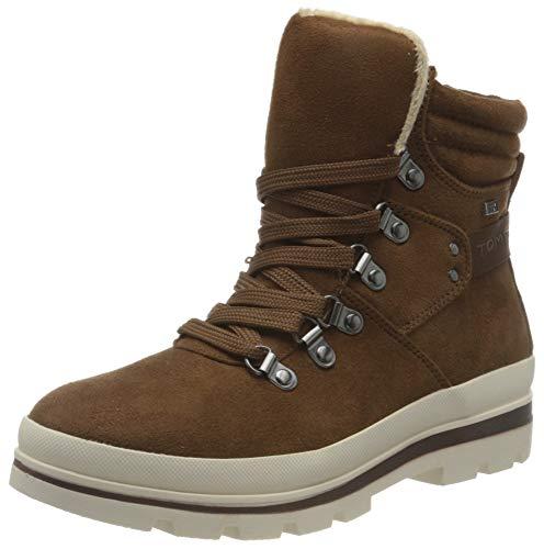 Tom Tailor Womens 9090704 Snow Boot Bootie Boot, Brown, 4.5 UK