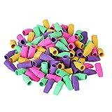 STOBOK 100PCS Kids Pencil Erasers Pencil Top Erasers Cap Erasers Eraser Tops Pencil Eraser Toppers School Erasers for Kids School Supplies (Random Color)
