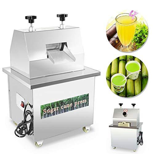 Commercial Electric Sugar Cane Juicer Stainless Steel Desktop Ginger for Juicing 110V 370W