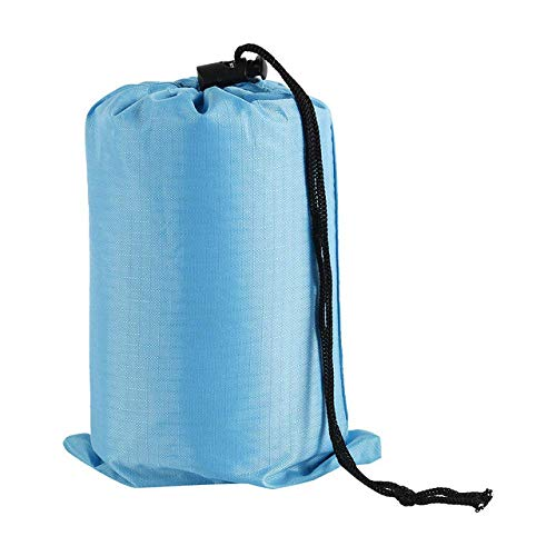 YFFSS Outdoor Picnic Camping Tent MatPortable Camping Mat Waterproof Beach Blanket Pocket Blanket Picnic Ground Mat Mattress,Sky Blue,Two Seat BTZHY (Color : Sky Blue, Size : Two Seat)