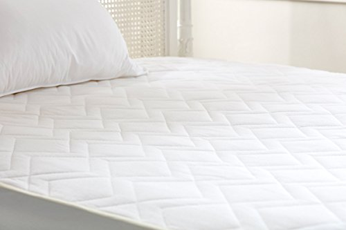 Lancashire Bedding Premium 100% Natural Pure Wool Mattress Protector with Pure Cotton Casing - Emperor