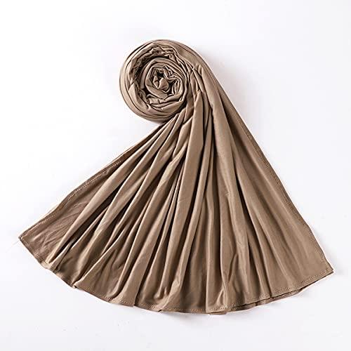 Bufanda Mujer Pañuelo Fulares Bandanas Ligero para Damas Cabello Cabeza Cuello Decoración,19,E
