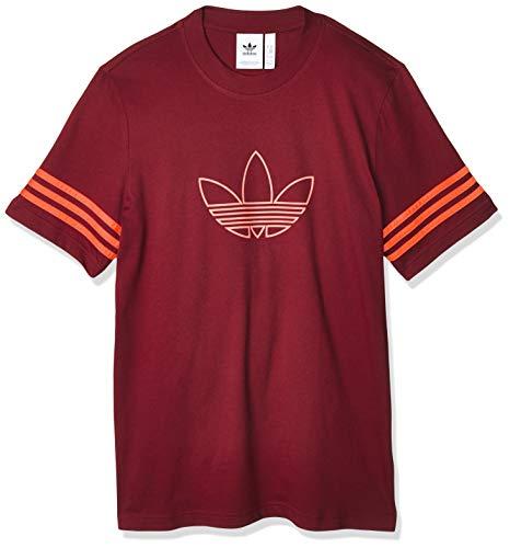 adidas Originals Outline tee Camiseta de Manga Corta, Hombre, Rojo (Collegiate Burgundy), XS