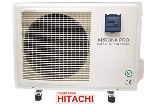 ByPiscine - Pompe à Chaleur Piscine - jusqu'à 65 m3, R32, COP 6.83, réversible, WiFi, modèle Arroka Pro 50 de