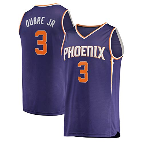 Rencai Kelly Oubre Jr. # 3 Phoenix Suns Multi-Style New Stoff Große Qualitäts-Basketball Jersey (Color : 1, Size : M)
