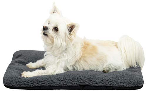 ZOLLNER Hundebett Katzenbett, 36x58 cm, waschbar, grau, Antirutschnoppen