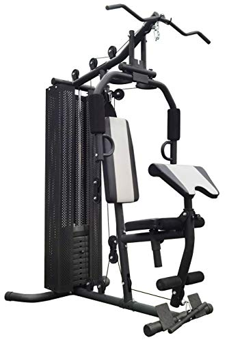 BalanceFrom RS 90 Home Gym System Workout Station with 380LB of Resistance, 145LB Weight Stack,...