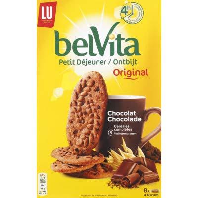 Belvita Biscuits au chocolat et aux céréales complètes - Les 8 sachets de 4, 400g
