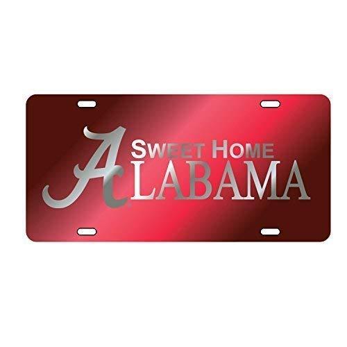 Alabama Crimson Tide Tag (Laser CRIM/SIL Sweet Home AL)
