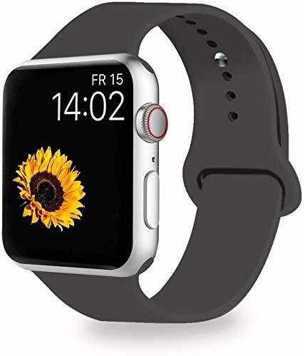 Compatibile con Cinturino Apple Watch 38 mm 40 mm 42 mm 44 mm, Morbido Cinturino Sportivo di Ricambio per iWatch Serie 5 4 3 2 1, 7 Cacao, 38MM/40MM S/M