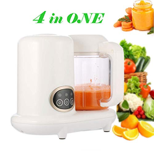 KGK Baby Food Maker, 4 in 1 Baby Food Processor Steam Cooker & Blender for Organic Homemade Food, Baby Food Mills Machine with Timer Control