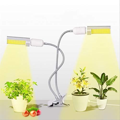 Lámpara de crecimiento de plantas 360 ° cuello de cisne curvada del clip de doble cabeza espectro completo planta llevada Timing crecimiento lámpara de maíz ligero anti-toro de la flor y el cultivo de