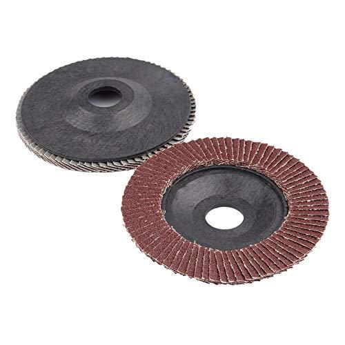 GFHDGTH 2Pc 5 Inch 125mm Schuurflapschijven, polijstslijpschijf Schuurgereedschap Grit 60 voor haakse slijper Dremel rotatiegereedschap